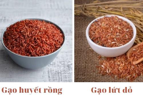 Soa sánh gạo Huyết rồng và gạo lứt đỏ